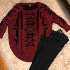Express half sleeve sweater